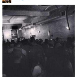 The crowd at the last open mic